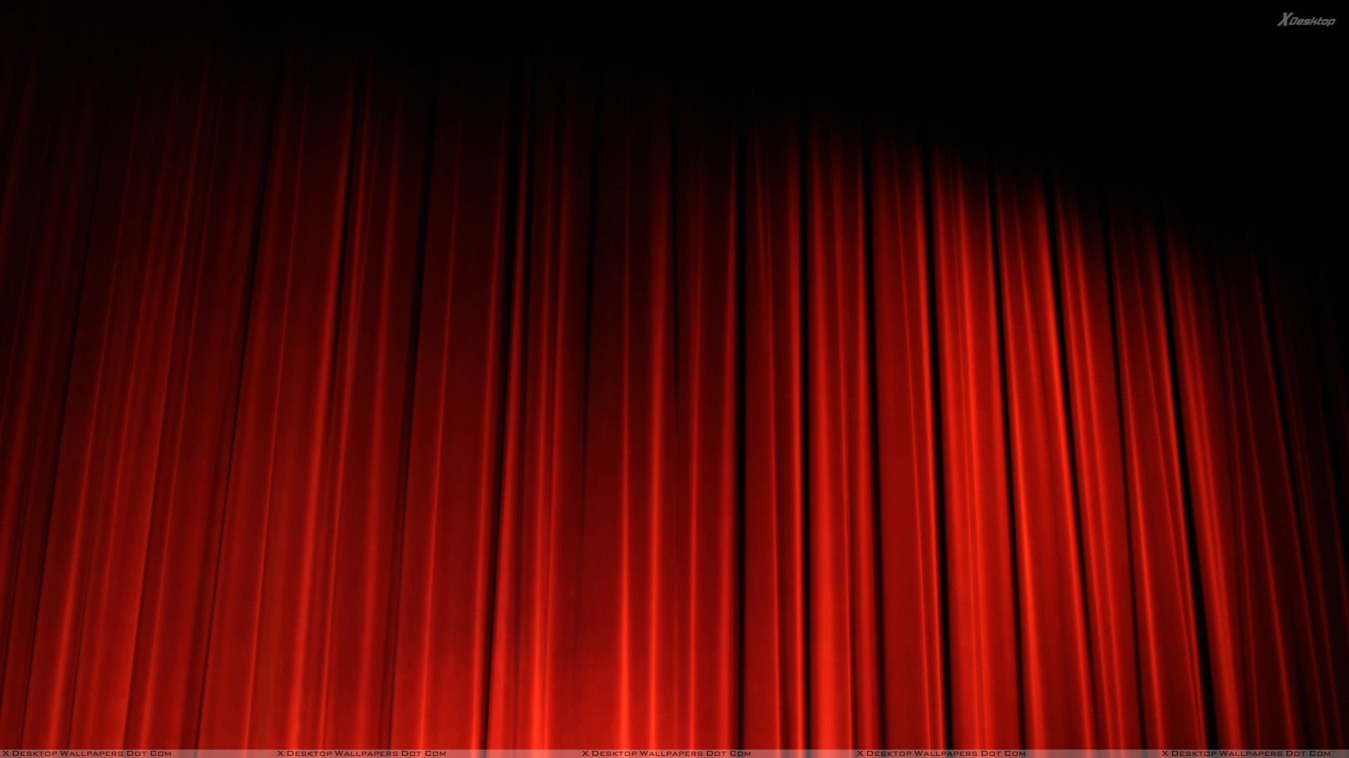 red curtain in cinema wallpaper