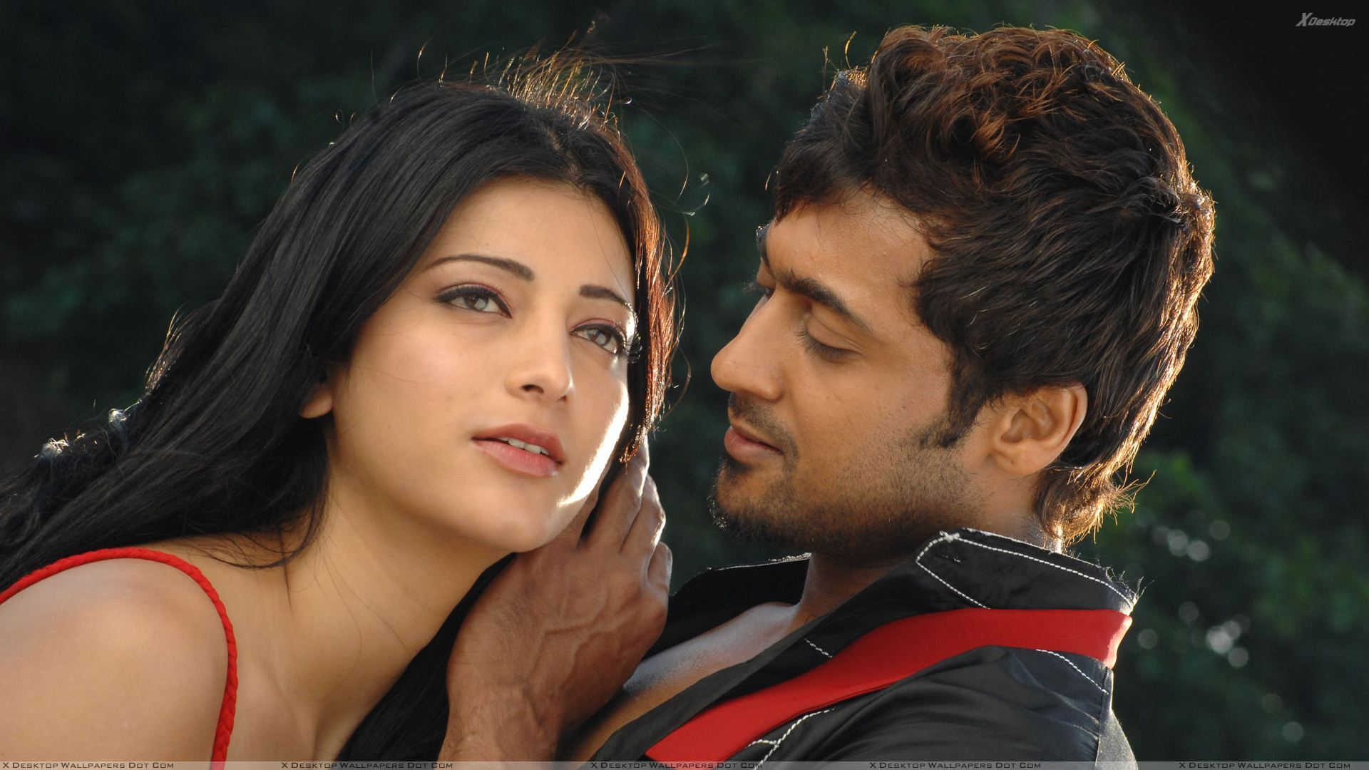 shruti haasan and surya romantic photoshoot 7aum arivu movie wallpaper