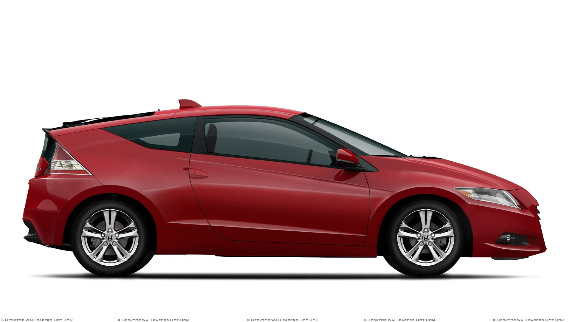 Side Pose Of 2011 Honda CR-Z Sport Hybrid Coupe In Red N ...
