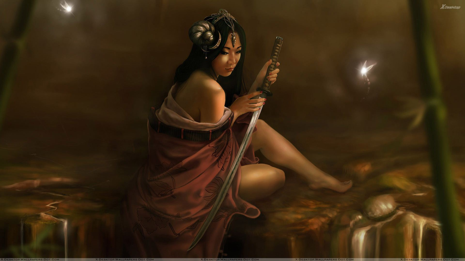 3d girl sitting with sword wallpaper you are viewing wallpaper titled 3d voltagebd Gallery