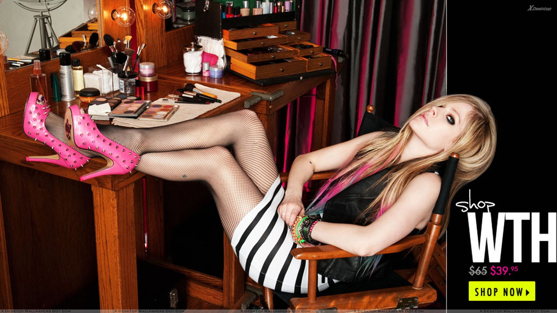 Avril lavigne sitting on chair at abbey dawn 2012 wallpaper you are viewing wallpaper titled avril lavigne voltagebd Gallery