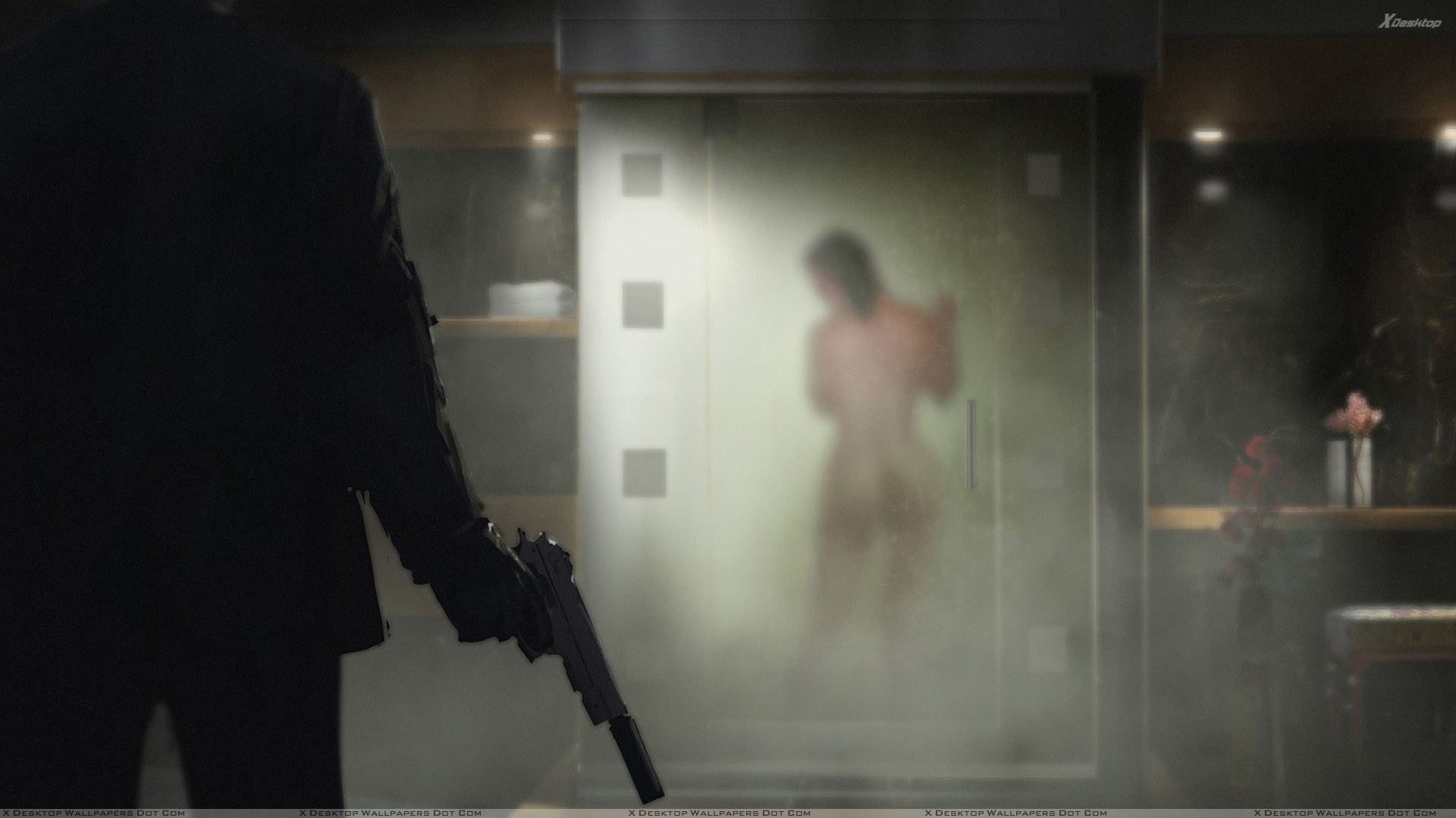 hitman absolution – ready to kill bathing girl wallpaper