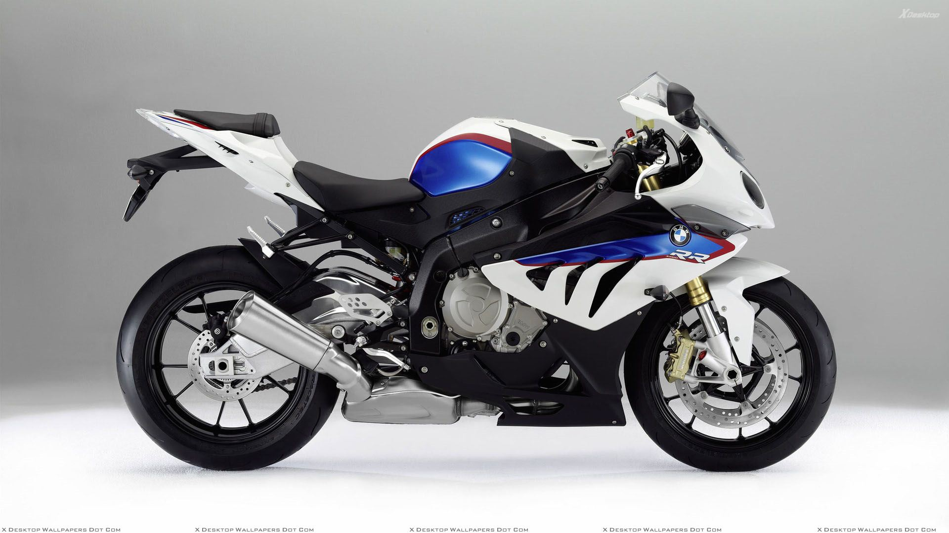 Side Pose Of Bmw S1000rr In White Wallpaper