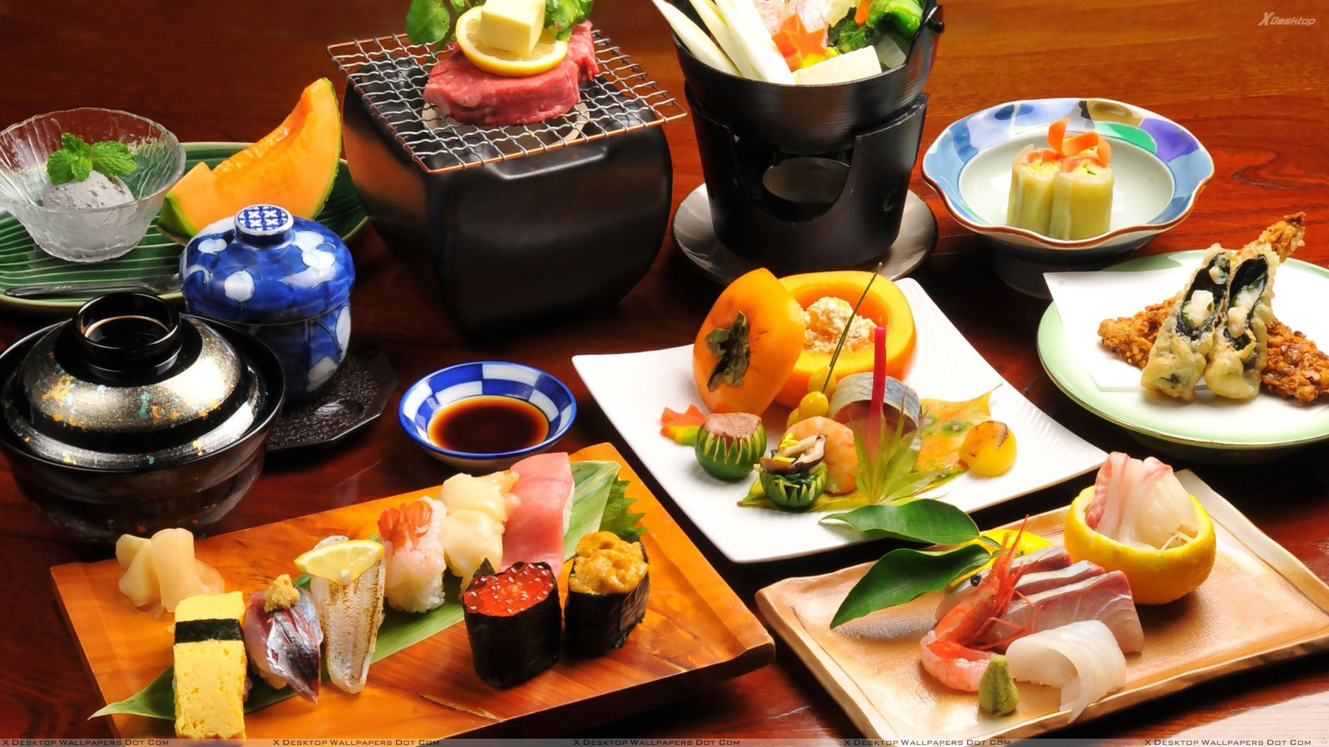 Sushi a japanese food wallpaper for Cuisine wallpaper