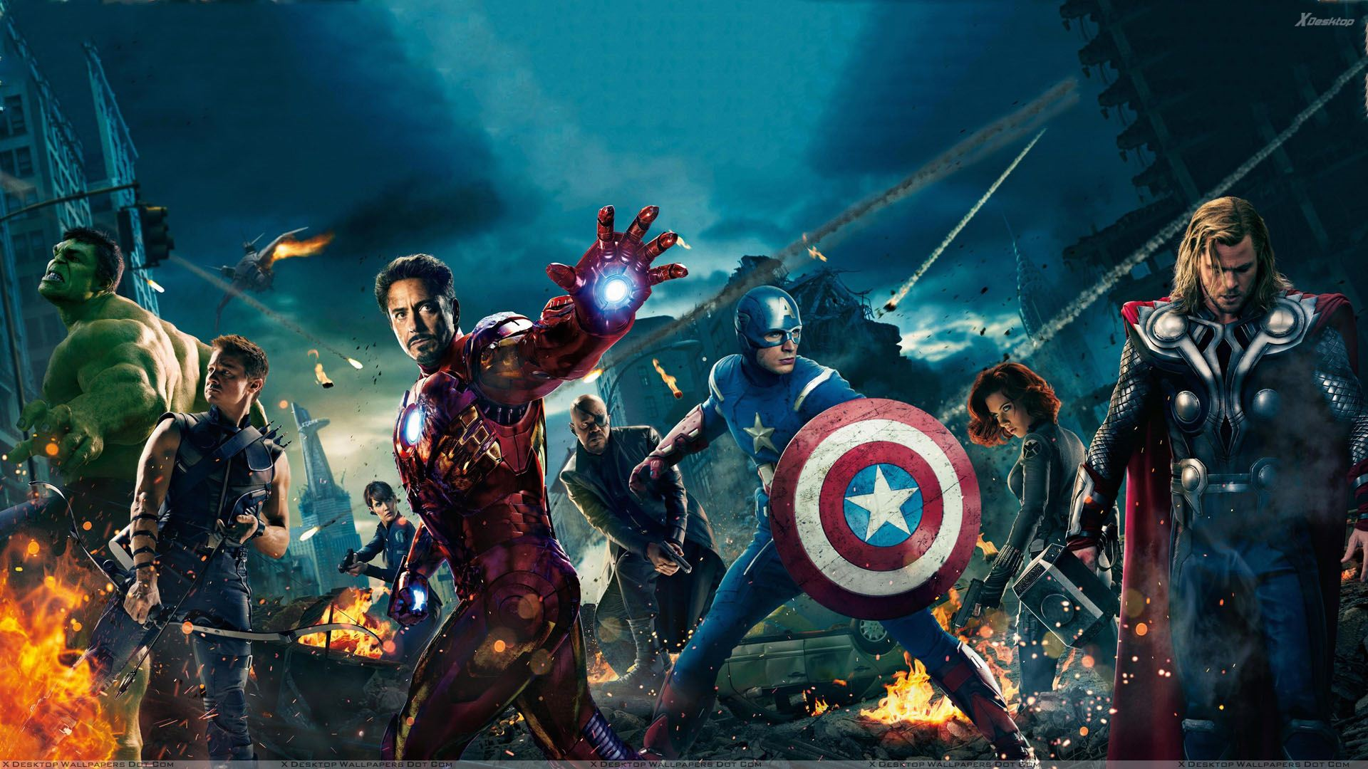 the avengers – all characters wallpaper