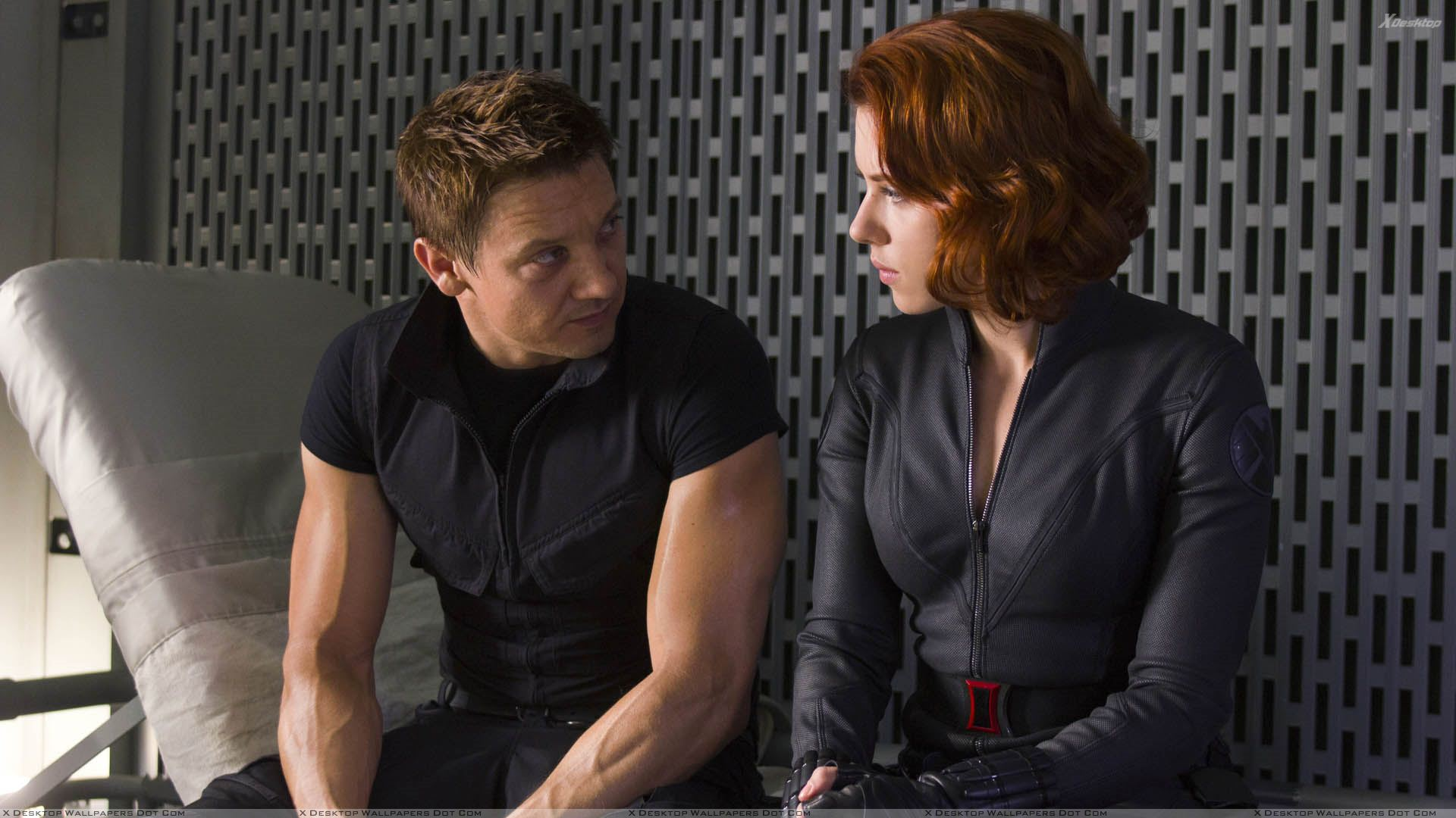 The Avengers – Jeremy Renner And Scarlett Johansson ...
