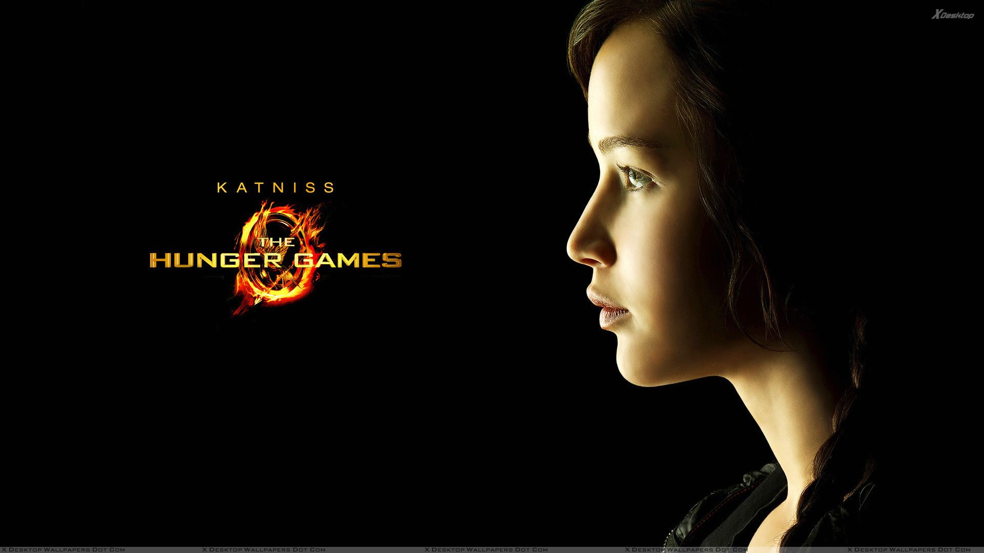 The hunger games jennifer lawrence as katniss everdeen side face you are viewing wallpaper titled the hunger games voltagebd Choice Image