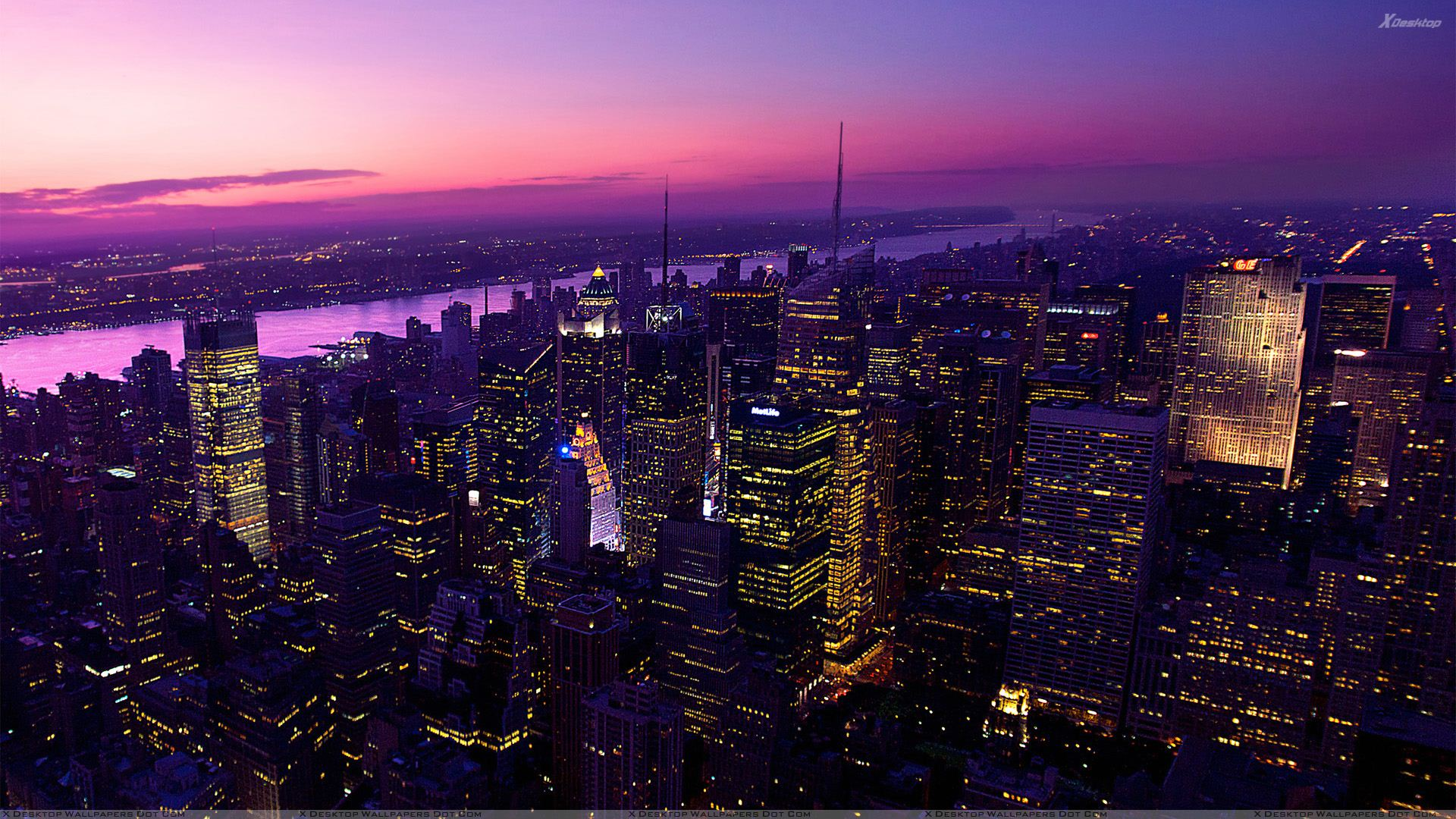 Twilight In New York City Wallpaper