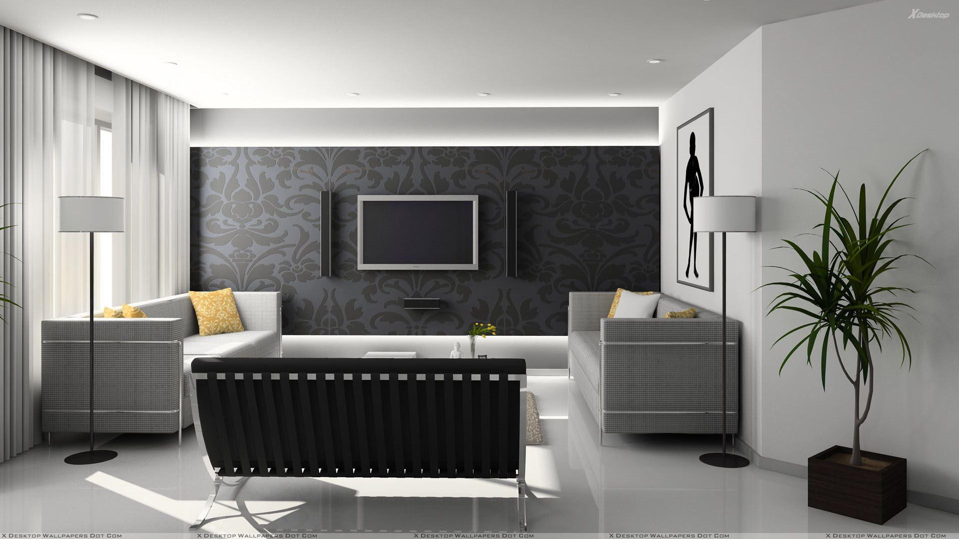 White background in home theater room wallpaper for White room wallpaper