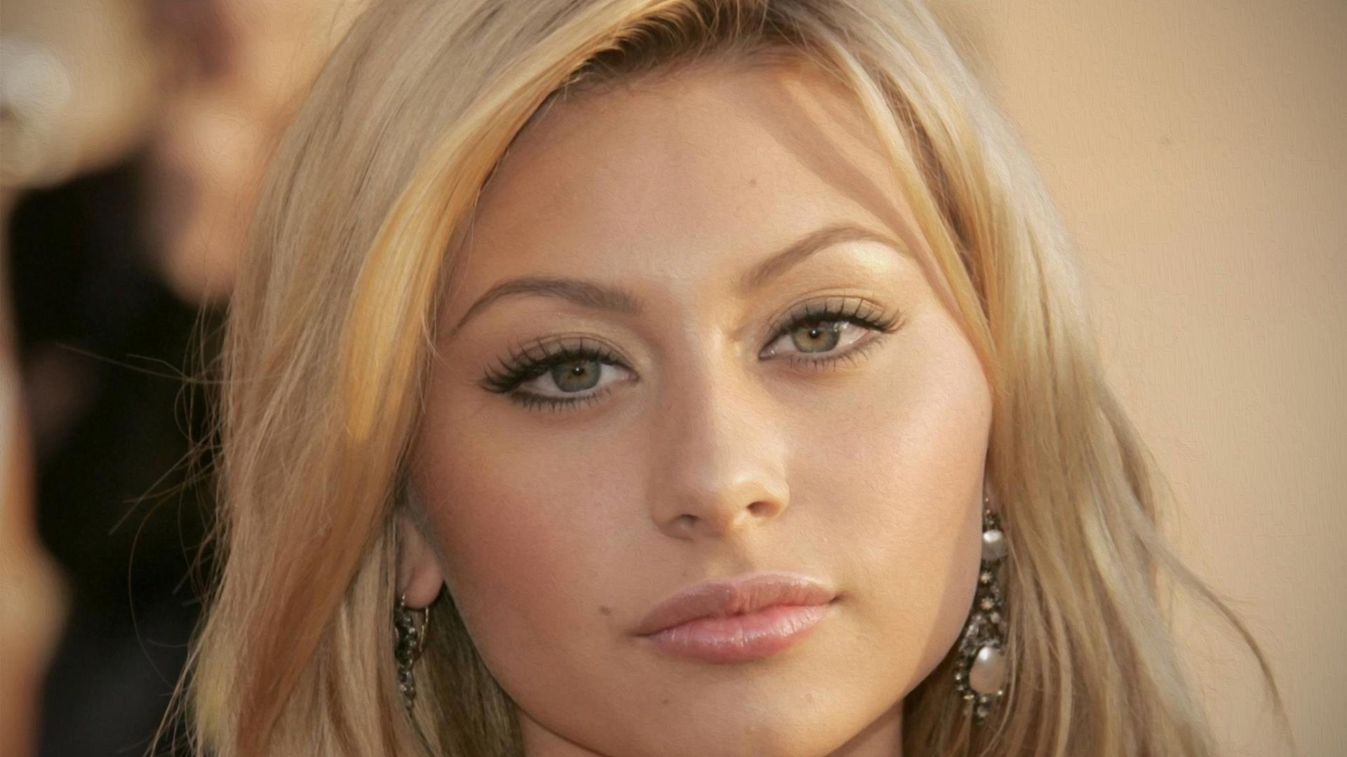 Aly Michalka Sad Face Closeup Wallpaper