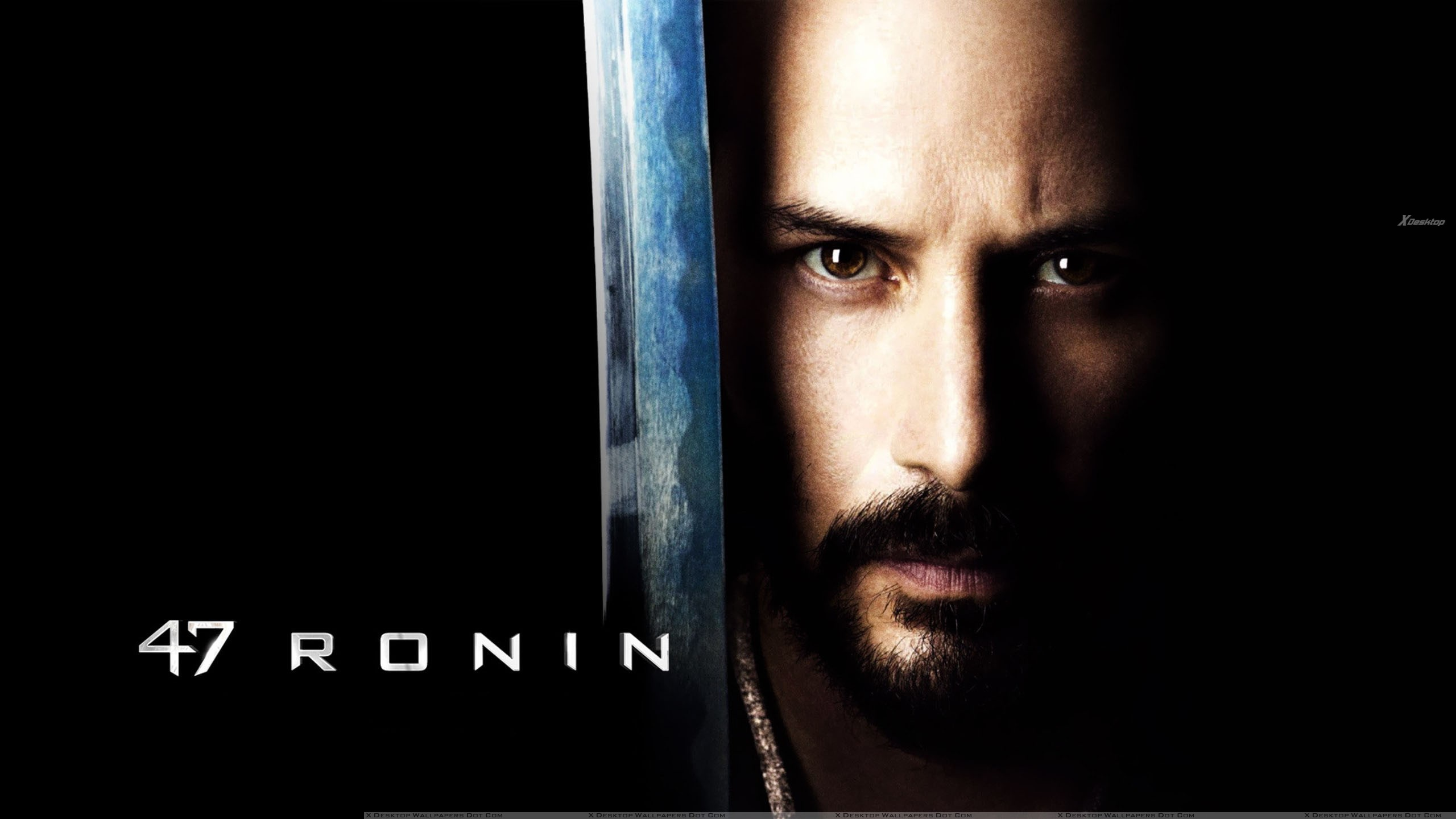 keanu reeves with his sword brown eyes in 47 ronin wallpaper