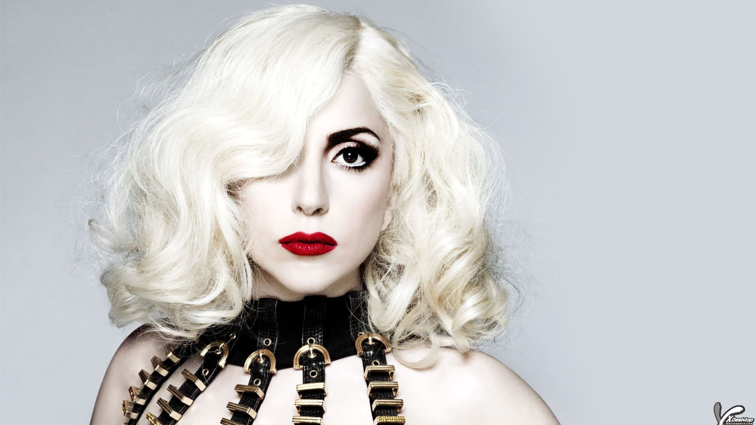 lady gaga white hairs on eyes face closeup wallpaper