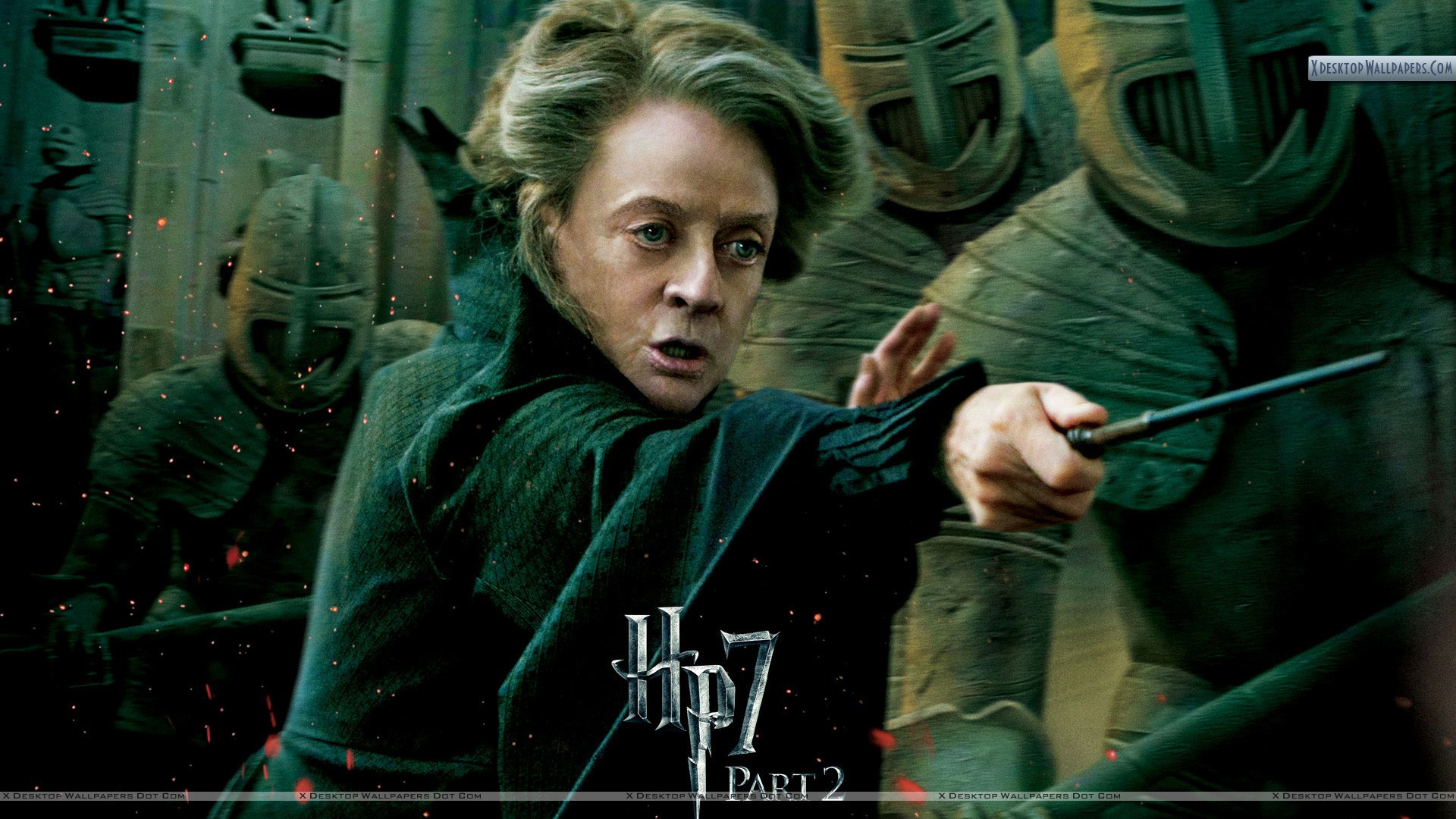 Maggie Smith In Harry Potter And The Deathly Hallows Part 2 Wallpaper