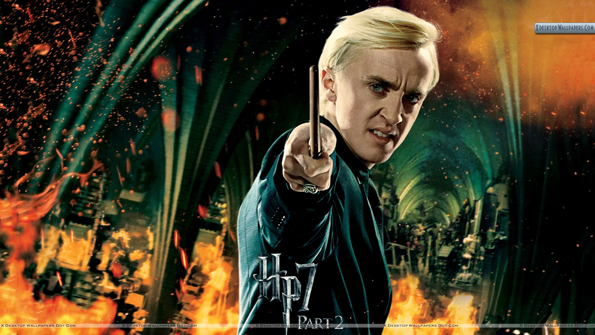 Tom Felton Stick In Hand Harry Potter And The Deathly Hallows Part