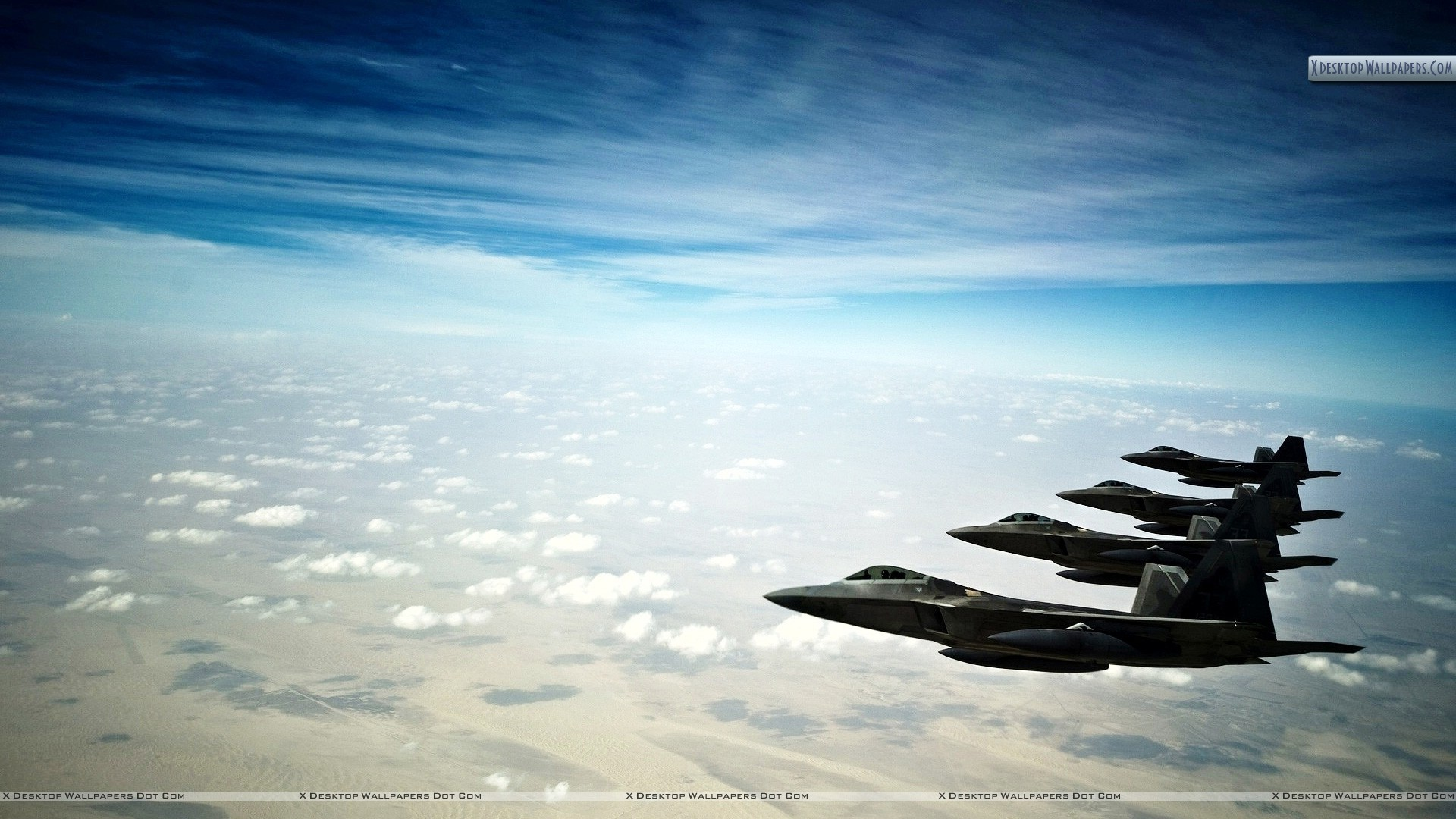 F 22 Raptor Stealth Fighters Wallpaper