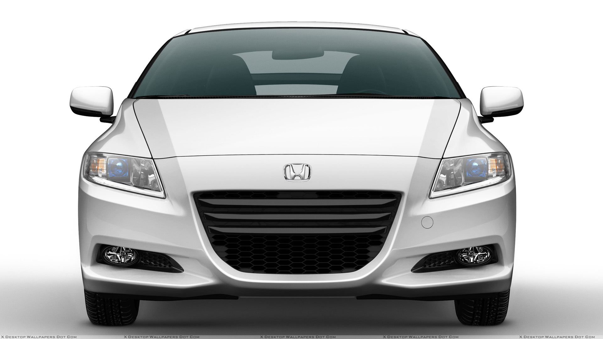 Front Pose Of 2011 Honda Cr Z Sport Hybrid Coupe In White Wallpaper Si Engine Diagram You