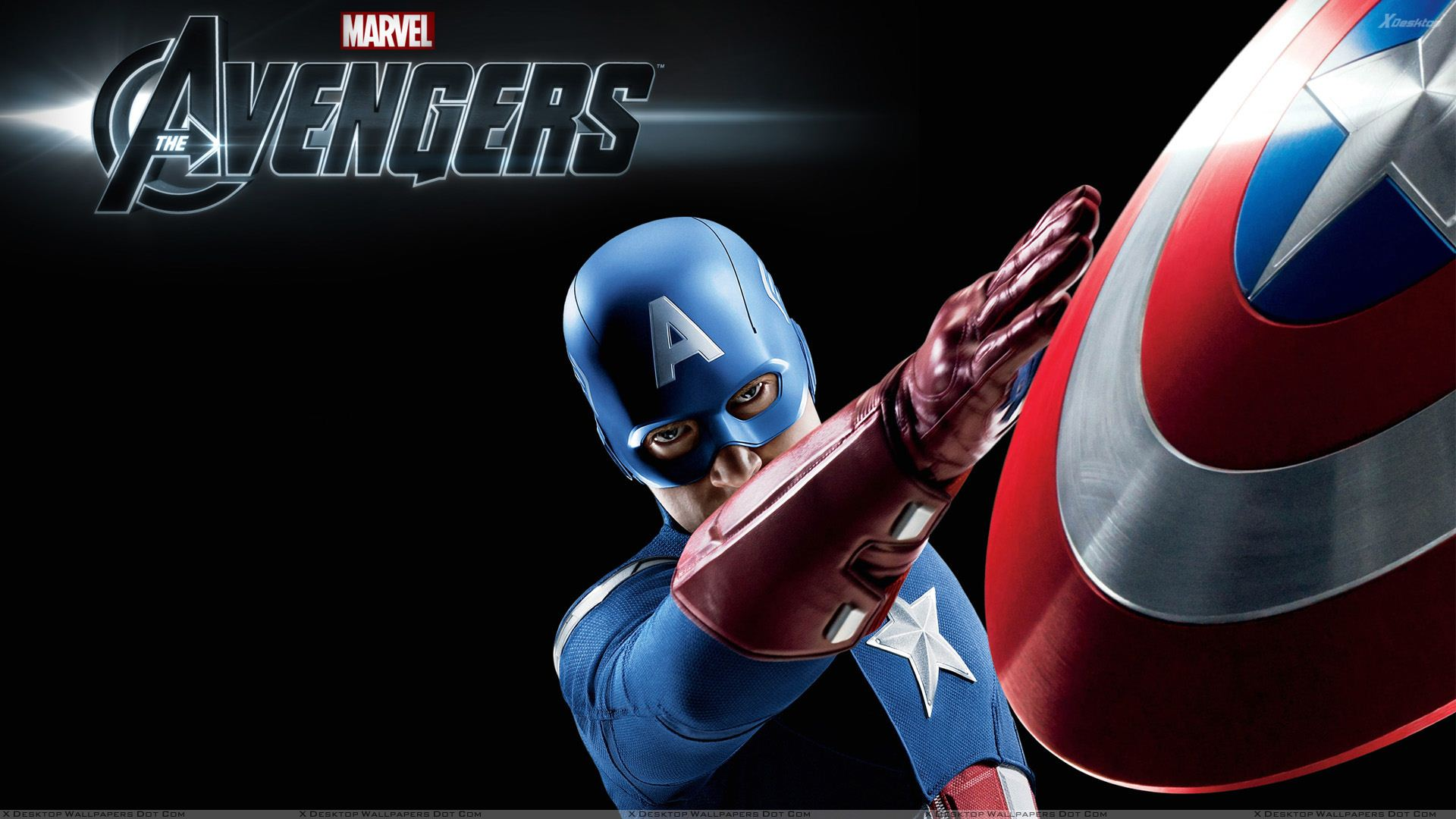 The Avengers Chris Evans As Captain America Throwing Shield