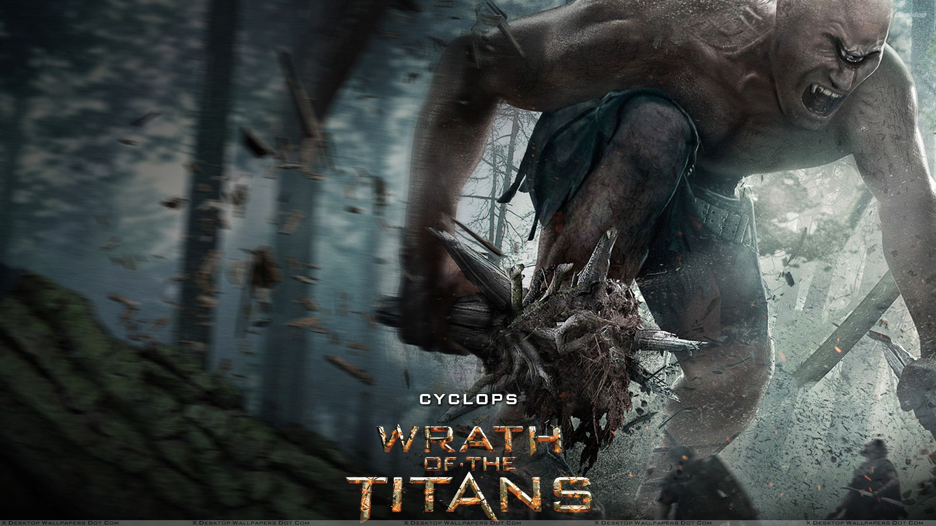 Wrath Of The Titans Martin Bayfield As Cyclops Screaming Wallpaper